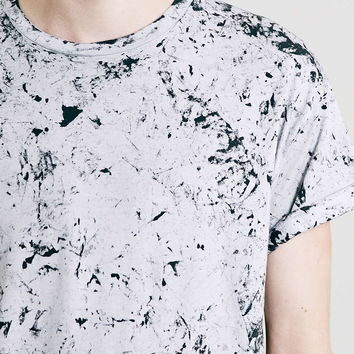 White Roller Fit Washed T-Shirt - Topman