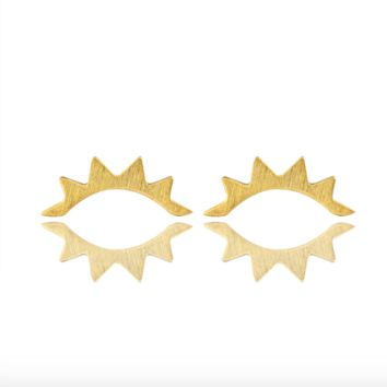 Eye Lash Stud Earrings