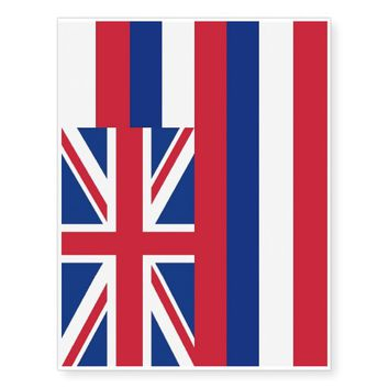 Patriotic temporary tattoos Flag of Hawaii