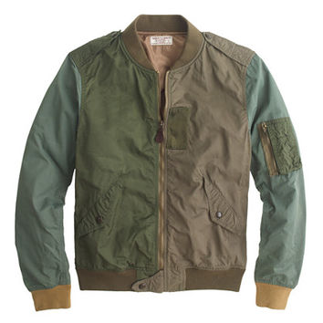 J.Crew Mens Wallace & Barnes Pieced A-2 Bomber Jacket