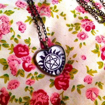 Demon Protection - Supernatural - Heart Necklace