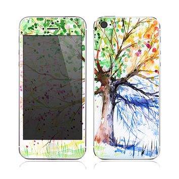 The WaterColor Vivid Tree Skin for the Apple iPhone 5s