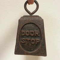 Door Stop, Cast Iron Weight, Door Stay FREE US Shipping