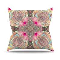 "Danii Pollehn ""Indian Clash"" Pink Multicolor Throw Pillow"