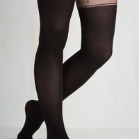 Film Noir Just My Style Tights Size OS by ModCloth