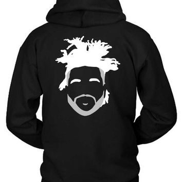 DCCKG72 The Weeknd Stencil Hairstyle Hoodie Two Sided