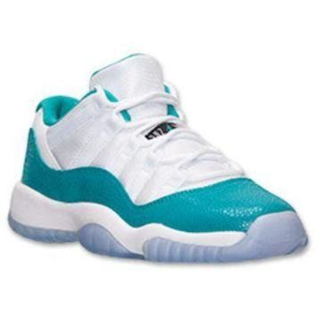 LMFIW1 Girls' Grade School Air Jordan Retro 11 Low Basketball Shoes
