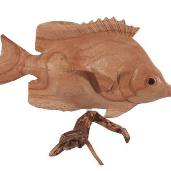 Handcarved Butterfly Fish