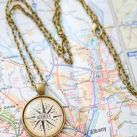 Wander Compass Necklace