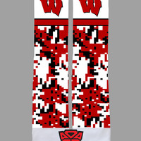 University of Wisconsin Badgers - Custom Sublimated Socks - Socktimus Prime