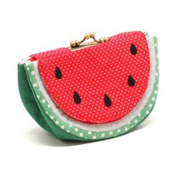 Supermarket: Cool soothing watermelon wallet purse from Misala Handmade Bags & Purses