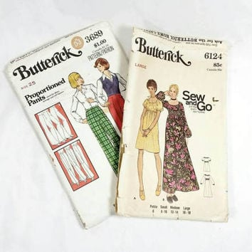 Variety of Fashion Patterns/Butterick Pattern (Lot of 2)