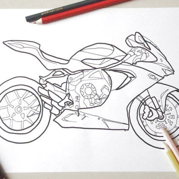 motorbike colouring card bike biker moto race racing pilot man men kids mv father day daddy f3 download colouring printable lasoffittadiste