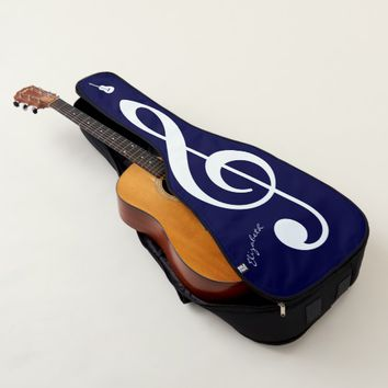 Large violin clef funny customizable guitar case