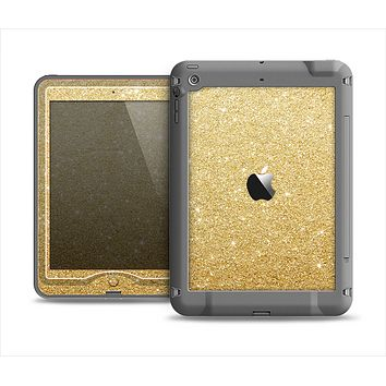 The Gold Glitter Ultra Metallic Apple iPad Mini LifeProof Nuud Case Skin Set