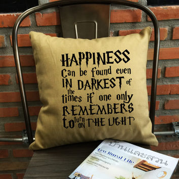 Harry Potter phrase Pillow cover Handmade pillow Harry potter Throw Pillow cover cotton canvas pillow cover