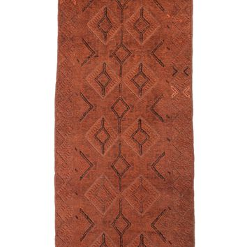 2x9 Overdyed Tribal Vintage Runner Copper Espresso 2618