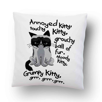 Grumpy Cat Quotes Pillow Cover