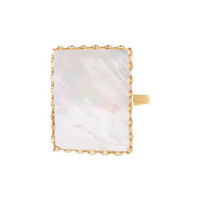 Lana Costa Blanca Mother-of-Pearl Ring