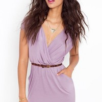 Sunday Wrap Dress - Mauve in  Clothes at Nasty Gal