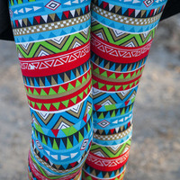 Blue/Red Pyramid Leggings