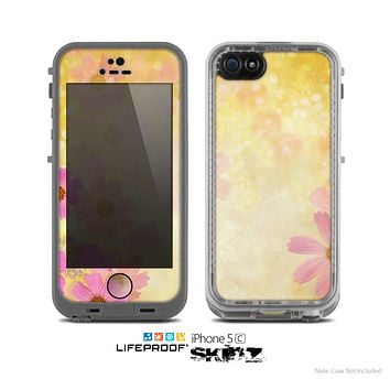 The Yellow & Pink Flowerland Skin for the Apple iPhone 5c LifeProof Case