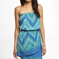 SCARF PRINT TUBE DRESS