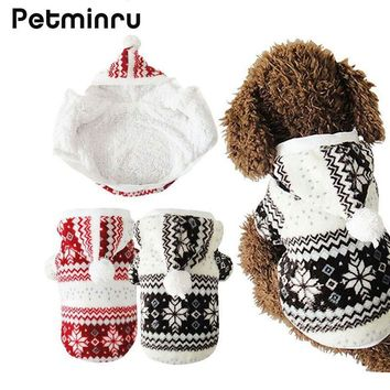 Cozy Snowflake Soft Dog Clothes jacket