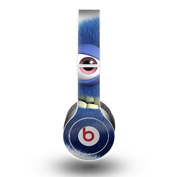 The Angry Blue Fury Monster Skin for the Beats by Dre Original Solo-Solo HD Headphones
