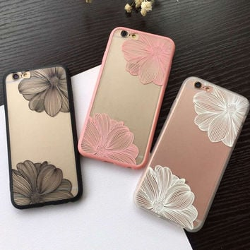 Fashion Flowers iphone case for iPhone 5S 6 6S Plus Case Cover + Nice Gift Box