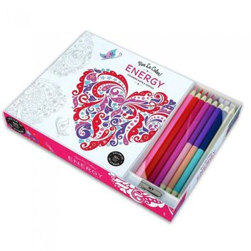 Energy Adult Coloring Book Color Therapy Kit