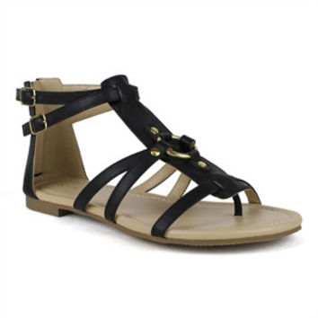 Mark and Maddux Black Multi Strap Sandal | Bishop-04