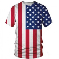 American Flag T-Shirt | All Over Print Shirt | EDM Shirts for Raves