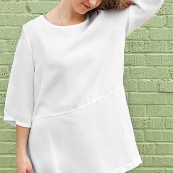 Bre Tunic - White Tencel by Bryn Walker