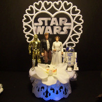 Star Wars Princess Leia Han Solo R2D2 C3PO Wedding by mikeg1968