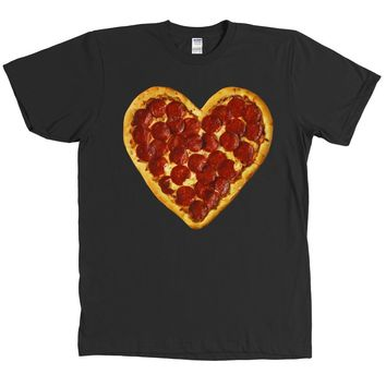 I Heart Pizza T Shirt Love Pepperoni Slice Foodie Tee - MANY COLORS AVAILABLE