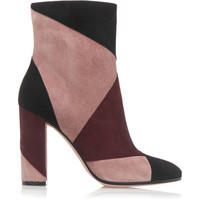 Gianvito Rossi - Patchwork Suede Ankle Boots