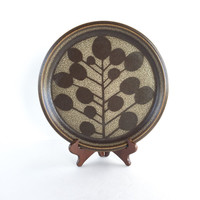 Vintage Mikasa Stoneware Candy Tree Dinner Plate