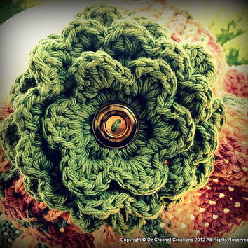 CROCHET PATTERN Flower INSTANT Download / Crochet Flower Pattern /  Crochet Flower Hair Clip Pattern / Girls Flower Crochet Pattern / Flower