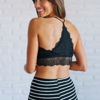 Late Nights Black Racerback Bralette - Luca + Grae