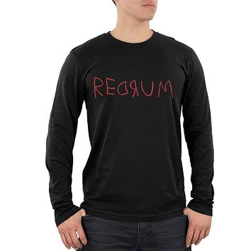 Halloween Horror Redrum Mens Soft Long Sleeve T Shirt