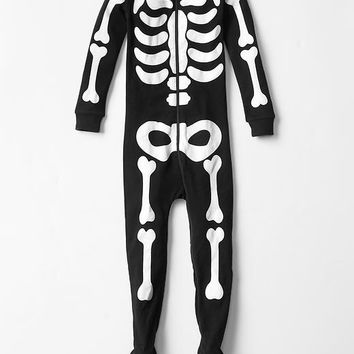 Gap Baby Halloween Glow In The Dark Bones Sleep Footed One Piece.