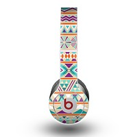 The Tan & Teal Aztec Pattern V4 Skin for the Beats by Dre Original Solo-Solo HD Headphones