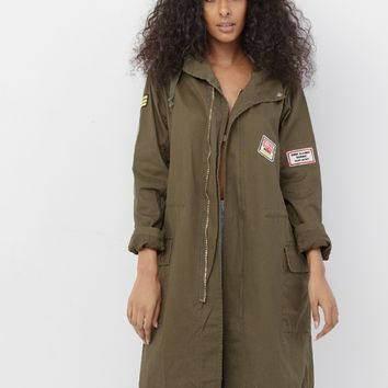 GIRL YES DOWNTOWN PARKA JACKET
