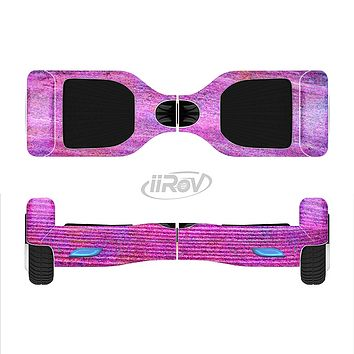 The Neon Pink Dyed Wood Grain Full-Body Skin Set for the Smart Drifting SuperCharged iiRov HoverBoard