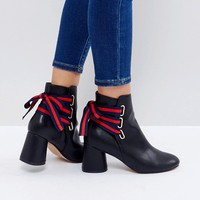ASOS RIDA Lace Back Ankle Boots at asos.com