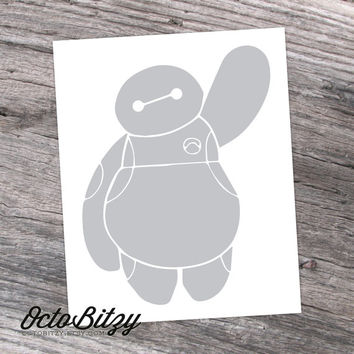 Baymax, Big Hero 6 Vinyl Decal Sticker