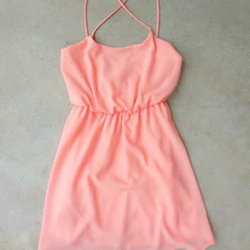 Summer Grove Dress in Peach