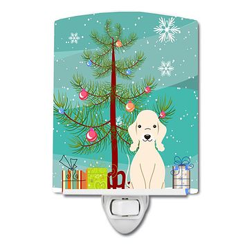 Merry Christmas Tree Bedlington Terrier Sandy Ceramic Night Light BB4216CNL