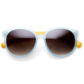 Summer Retro 2 Tone Colorful P3 Round Sunglasses 9103